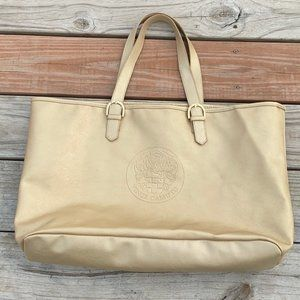 Vince Camuto Gold Embossed Logo Tote Bag